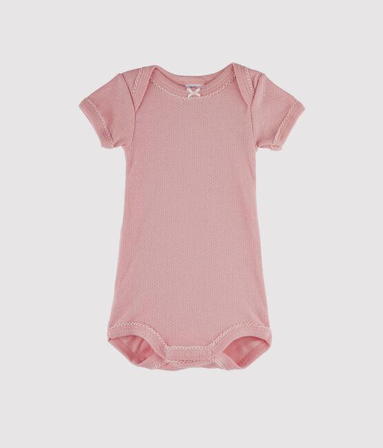 Kurzärmeliger Baby-Body für Mädchen rosa Charme