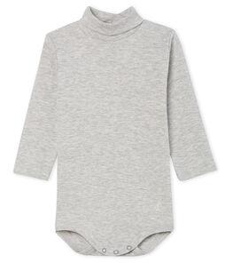 Langärmeliger Baby-Body mit Rollkragen, Unisex grau Beluga