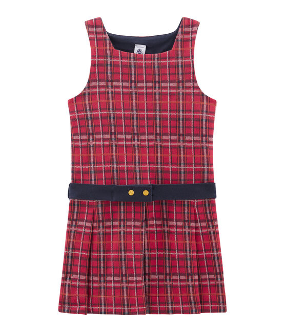 Ärmelloses Kinderkleid für Mädchen rot Terkuit / weiss Multico