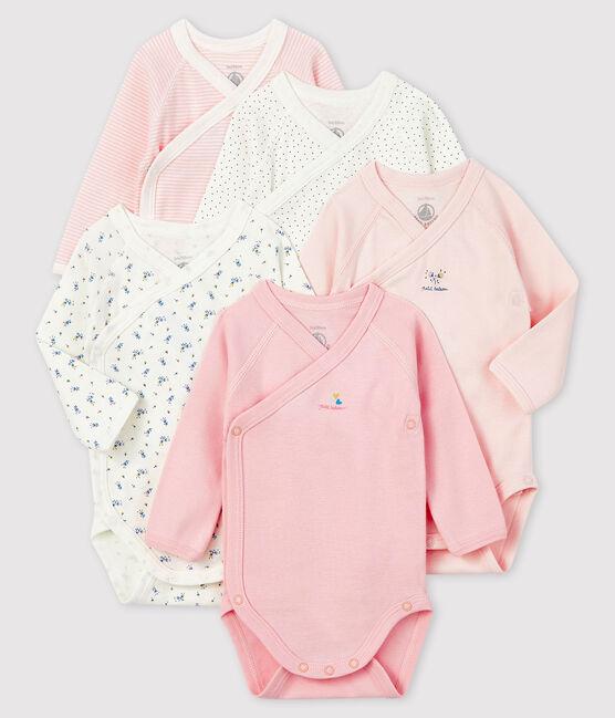 Set mit fünf langärmeligen Bodys für Neugeborene lot .