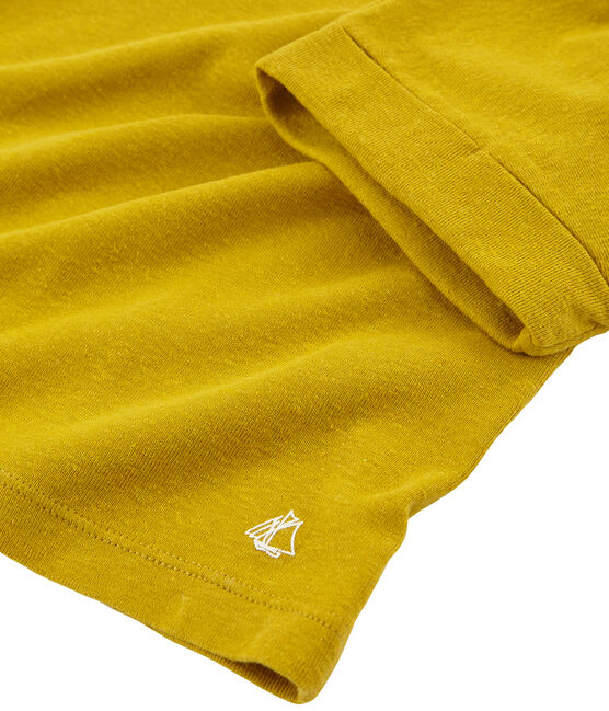 Kurzärmeliges Kinder-T-Shirt Mädchen gelb Bamboo