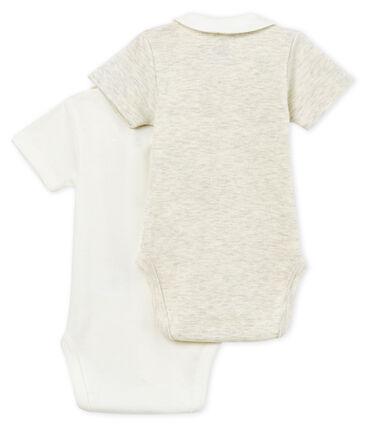 2er-Set kurzärmelige baby-bodys mit kragen jungen