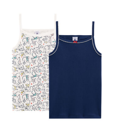2er-Set Trägerhemden für kleine Mädchen lot .