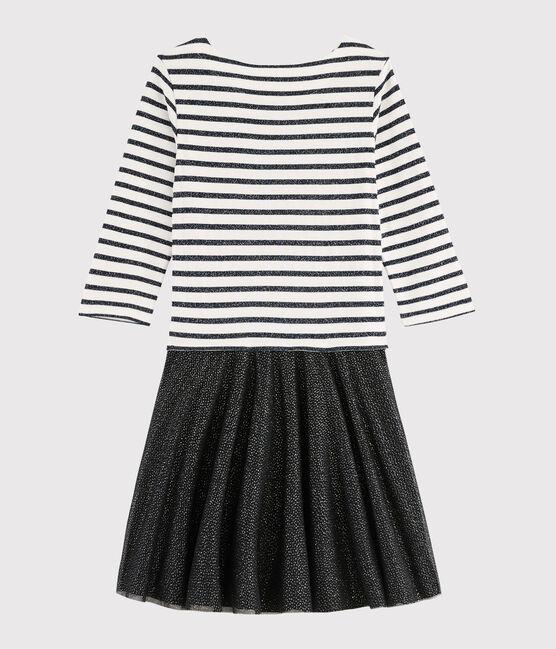 Glänzendes Kleid für besondere Anlässe MARSHMALLOW/SMOKING ARGENT BRI