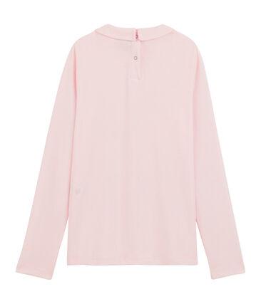 T-Shirt für Mädchen mit Bubikragen rosa Vienne