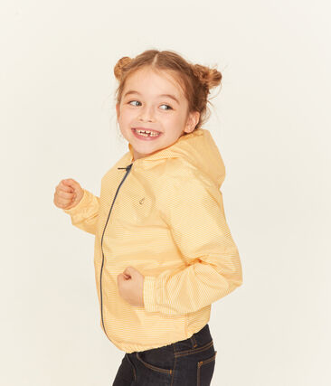 Winddichte Kinderjacke Unisex gelb Honey / weiss Marshmallow