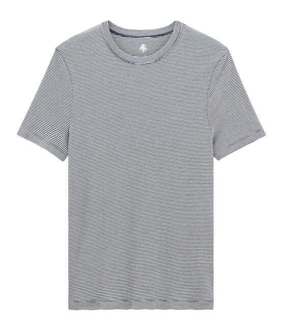 Emblematisches kurzärmliges T-Shirt mit Rundhalsausschnitt für Herren blau Smoking / weiss Marshmallow