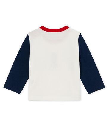 Langärmeliges baby-t-shirt mit motiv jungen