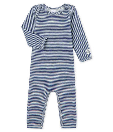 Baby-Body mit langen Beinen aus Wolle und Baumwolle