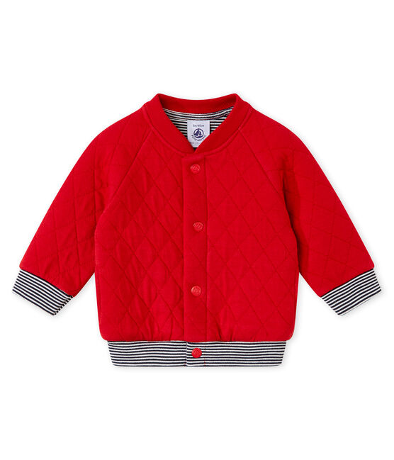 Gesteppter Baby Jungen Cardigan aus gedoppeltem Jersey rot Terkuit