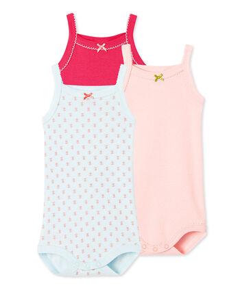 Baby-Mädchen-Bodys mit Trägern im 3er-Set