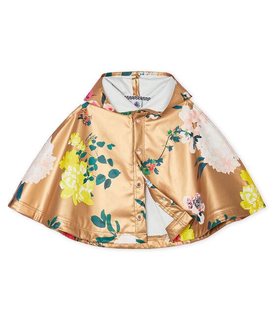 Gemustertes Baby-Regencape für Mädchen braun Cuivre / weiss Multico