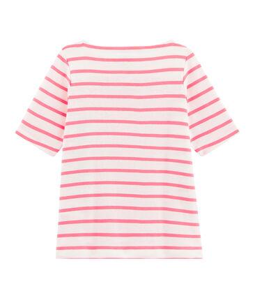 Kinder-T-Shirt für Mädchen weiss Marshmallow / rosa Cupcake