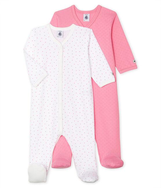 2er-Set Schlafstrampler für Baby Mädchen aus Rippstrick lot .