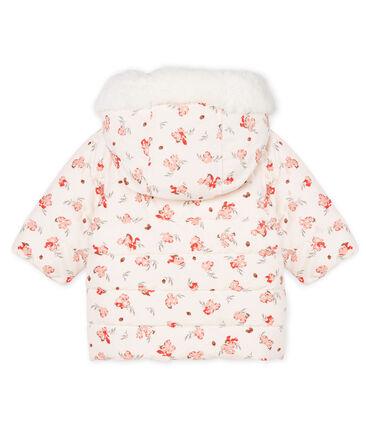 Gemusterte Baby-Jacke aus Mikrofaser für Mädchen