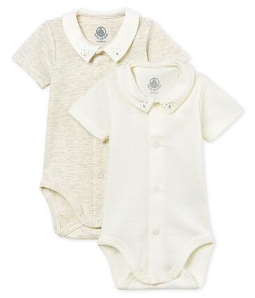 2er-Set kurzärmelige baby-bodys mit kragen jungen lot .