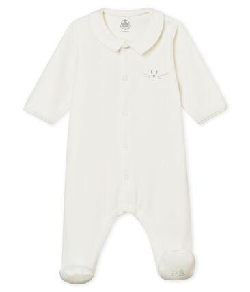 Unisex Baby Strampler aus Baumwoll-Nicki in Uni