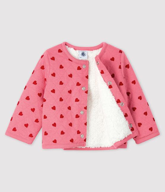 Baby-Cardigan aus Doppeljersey für Mädchen CHEEK/TERKUIT