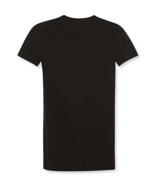 Emblematisches kurzärmliges T-Shirt für Damen schwarz Noir
