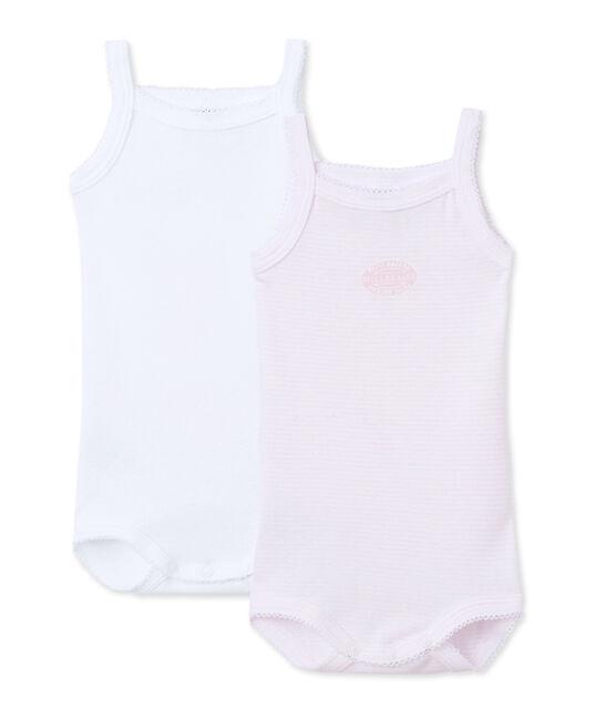 Baby-Mädchen-Bodys mit Trägern im 2er-Set lot .