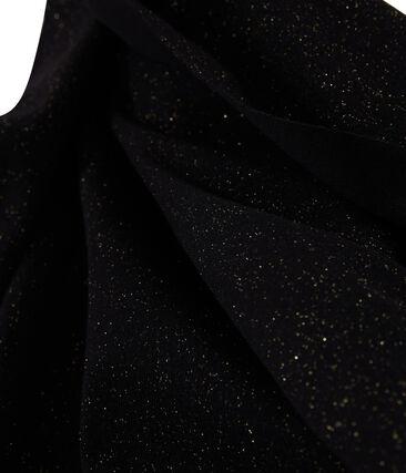 Glänzender Damenschal schwarz Noir / gelb Or
