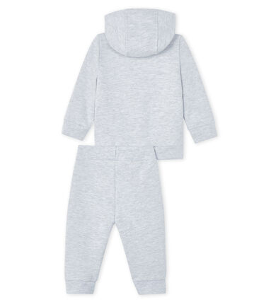 Baby Sweat Shirt und Jogging Set grau Poussiere Chine