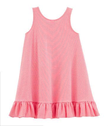 Kurzärmeliges Kleid für Baby Mädchen rosa Petal / blau Crystal