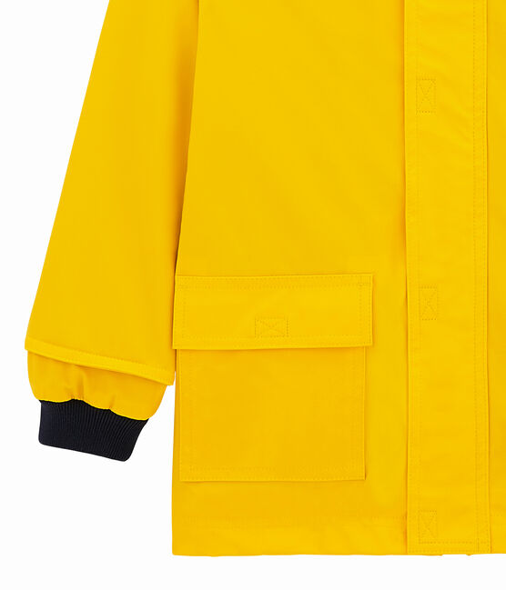 Emblematische Kinder-Regenjacke gelb Jaune