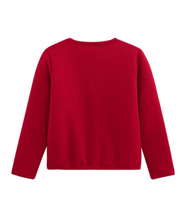 Kinder-Cardigan Mädchen rot Terkuit