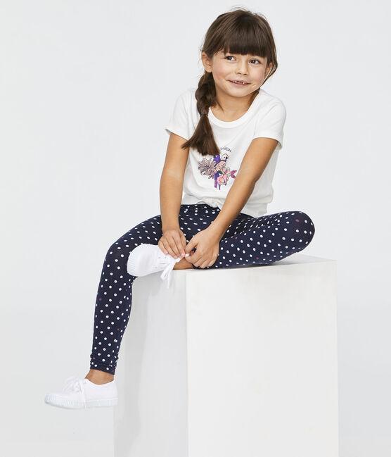 Kinder-Leggings für Mädchen blau Smoking / weiss Multico
