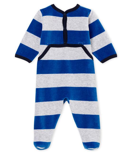 Baby Jungen Strampler blau Limoges / grau Poussiere
