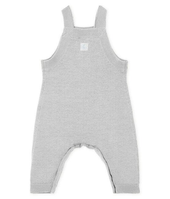 Lange Baby-Latzhose aus einem Strick-Gemisch für Jungen. grau Montelimar Chine
