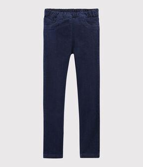Kinder-Slim-Jeans für Mädchen blau Denim Bleu Fonce