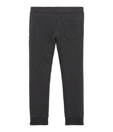 Gesteppte Jungen Hose aus gedoppeltem Jersey grau Capecod
