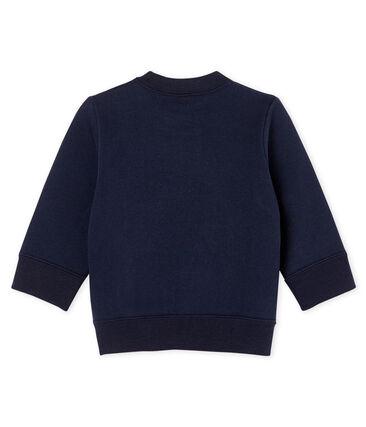 Baby-Sweatshirt aus Molton für Jungen blau Smoking