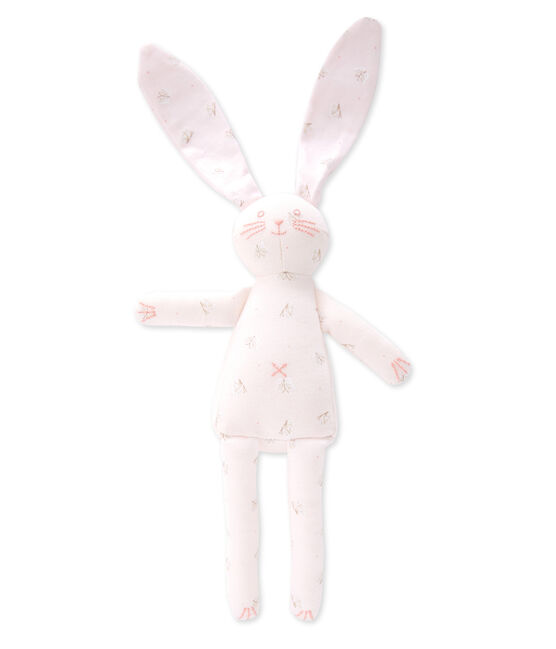 Doudou lapin rosa Vienne / weiss Ecume