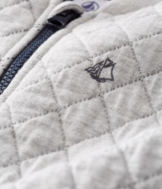 Baby-Cardigan aus gestepptem Doppeljersey für Jungen grau Beluga