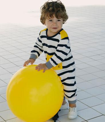 Baby-labgoverall mit seemannsstreifen jungen