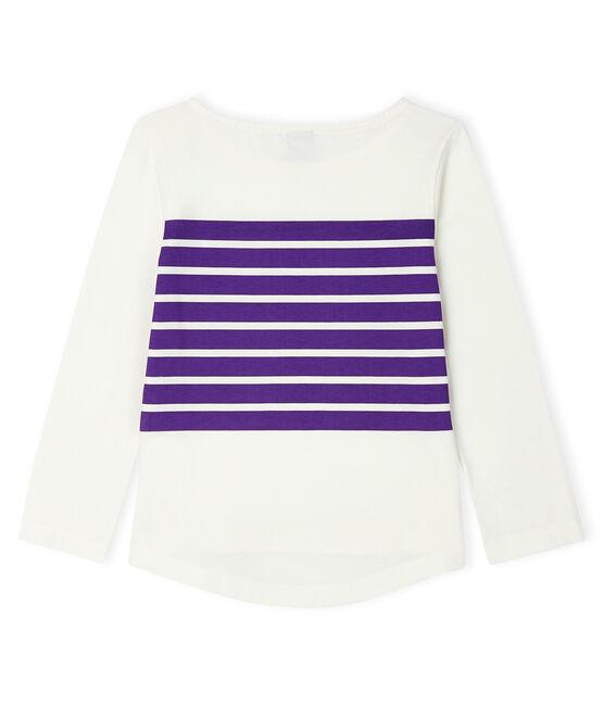 Kinder-T-Shirt für Mädchen weiss Marshmallow / violett Real