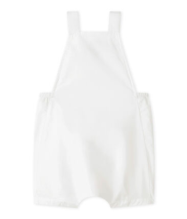 Baby-Kurzlatzhose aus Leinen für Jungen. weiss Marshmallow