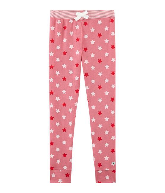 Mädchen Schlafanzughose rosa Cheek / weiss Multico
