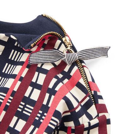 Kariertes Shirt für Damen beige Coquille / weiss Multico