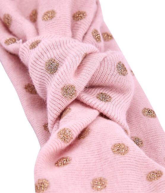 Gepunktetes Haarband rosa Joli / gelb Dore