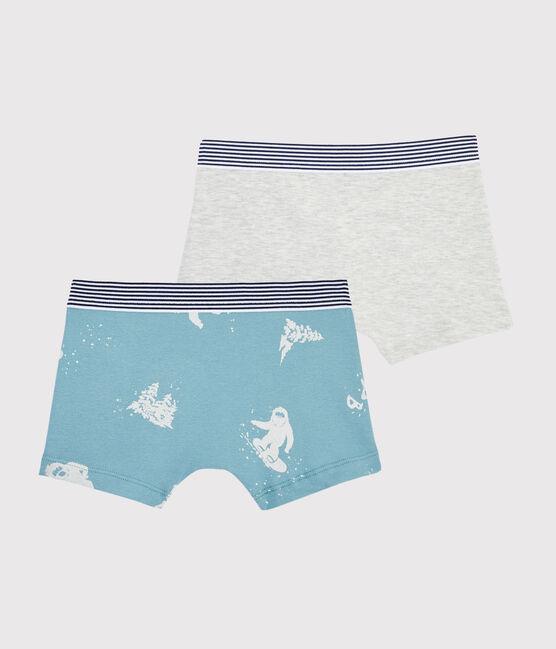 Set mit 2 Boxershorts mit Yeti-Print für kleine Jungen lot .