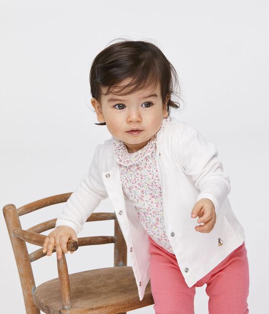 Baby-Body für Mädchen weiss Marshmallow / rosa Cupcake