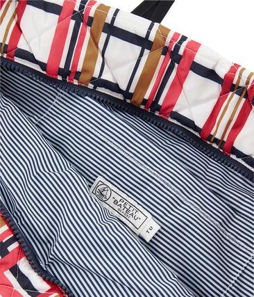 Gesteppte Einkaufstasche weiss Marshmallow / weiss Multico
