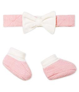 Set mit Haarband und Babyschuhen aus gestepptem Doppeljersey für Mädchen