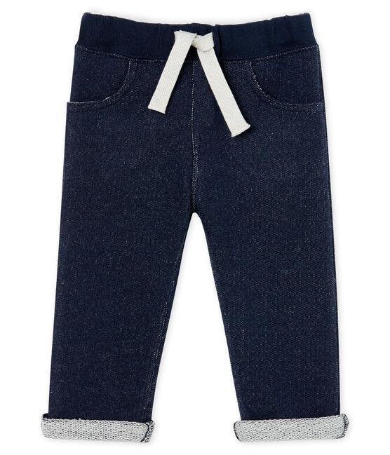 Baby-Hose aus Molton für Jungen blau Smoking