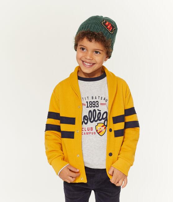 Kinder-Cardigan Jungen gelb Boudor