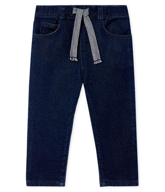 Unisex-Babyhose aus Strick im Denim-Look blau Jean